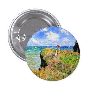 Monet - Cliff Top Walk At Pourville Button