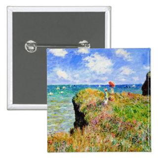Monet - Cliff Top Walk At Pourville Buttons