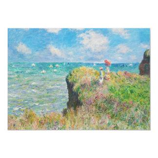 """Monet Cliff Walk at Pourville Invitations 5"""" X 7"""" Invitation Card"""