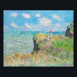"Monet Cliff Walk at Pourville Photo Print<br><div class=""desc"">Monet Cliff Walk at Pourville print. Oil on canvas from 1882. French impressionist Claude Monet frequently painted the sea, and this is one of his most beloved and famous ocean paintings. The work features two girls standing on a grassy cliff overlooking the blue waves beyond. One of the girls holds...</div>"