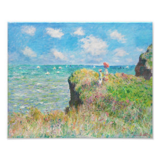 Monet Cliff Walk at Pourville Photo Print