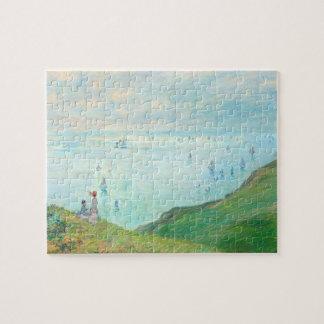 Monet Cliffs at Pourville Fine Art Jigsaw Puzzle