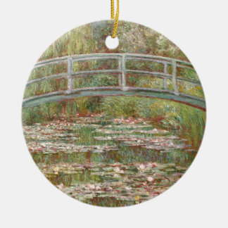~ Monet de los lirios de agua Adorno Redondo De Cerámica