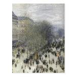 Monet, DES Capucines del bulevar de Claude Techniq Postales