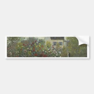 Monet el jardín del artista en Argenteuil Pegatina De Parachoque