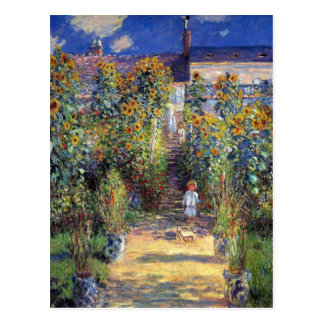 """Monet, """"el jardín del artista en postal de Vétheui"""