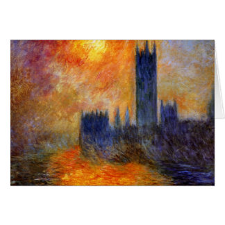 Monet - el parlamento en el sol - arte tarjeta de felicitación
