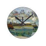 Monet - el Sena en Asnieres Reloj Redondo Mediano