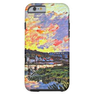 Monet - el Sena en Bougival en el arte de la tarde Funda Para iPhone 6 Tough