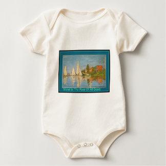 Monet es la raíz de toda la camiseta larga de la mameluco