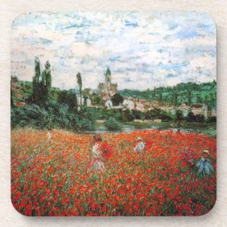 Monet Field of Red Poppies Coasters