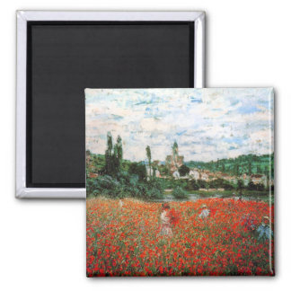 Monet Field of Red Poppies Magnet