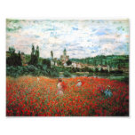 Monet Field of Red Poppies Photo Print