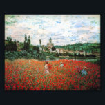 "Monet Field of Red Poppies Photo Print<br><div class=""desc"">Monet Field of Red Poppies photo print. Oil on canvas from 1879. Monet painted several different poppy fields during his career. This particular painting features several young women in sundresses and sunhats collecting the red flowers before a river on a slightly cloudy summer day. A pretty gift for fans of...</div>"