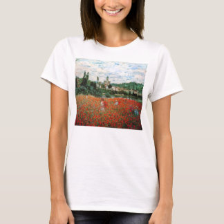 Monet Field of Red Poppies T-shirt