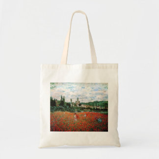 Monet Field of Red Poppies Tote Bag