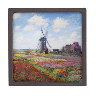 Monet Field of Tulips With Windmill Gift Box
