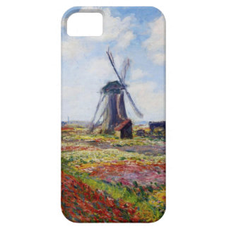 Monet Field of Tulips With Windmill iPhone 5 Case