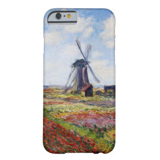 Monet Field of Tulips With Windmill iPhone 6 case