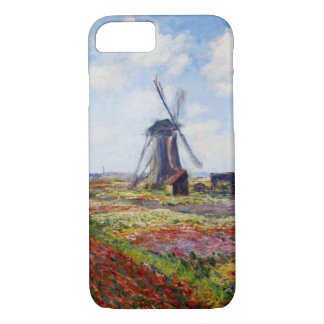 Monet Field of Tulips With Windmill iPhone 7 case