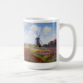 Monet Field of Tulips With Windmill Mug