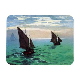 Monet Fishing Boats at Sea Magnet