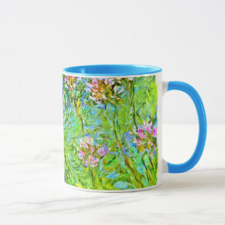 Monet floral painting: Agapanthus flowers Mug