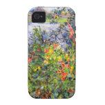 Monet - flores en Vetheuil iPhone 4/4S Carcasas