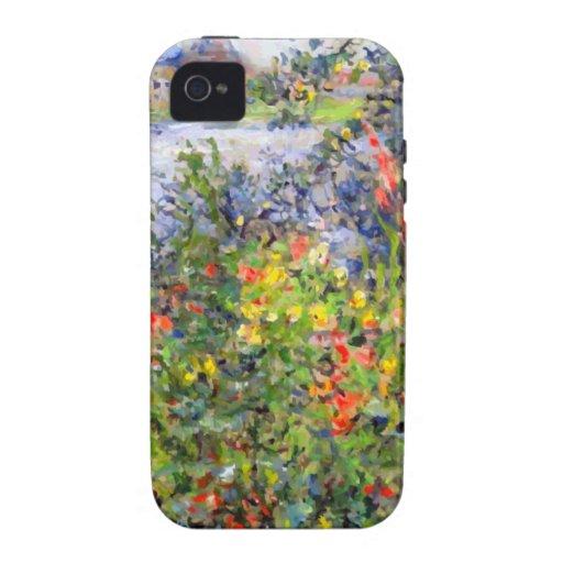 Monet - flores en Vetheuil Vibe iPhone 4 Fundas