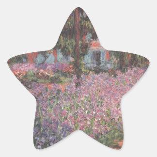 Monet flowers Artist Garden Giverny vines art Star Sticker