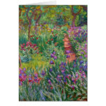 monet flowers vintage the-iris-garden-at-giverny greeting card