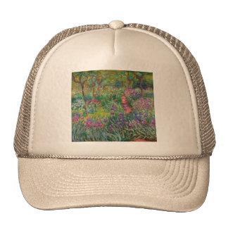 monet flowers vintage the-iris-garden-at-giverny trucker hat