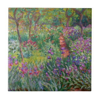 monet flowers vintage the-iris-garden-at-giverny tile