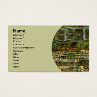 Monet French Japanese Bridge Impressionist Business Card