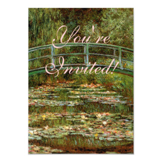 Monet French Japanese Bridge Impressionist Card
