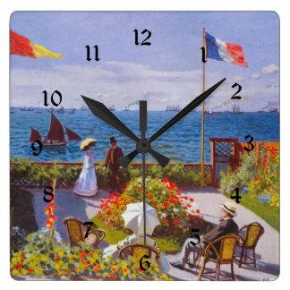 Monet Garden At Saint Addresse (St Addresse) Square Wall Clock