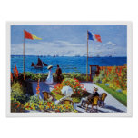 Monet: Garden at Sainte-Adresse Poster