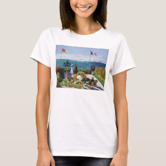 Monet Garden at Sainte Adresse T-shirt
