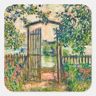 Monet Garden Gate at Vetheuil Sticker