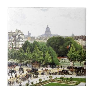 Monet Garden Of The Princess Small Square Tile