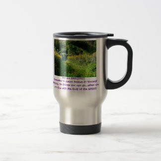 Monet Garden You are AMAZING!! double side 15 Oz Stainless Steel Travel Mug