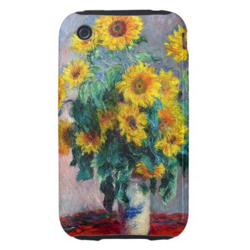 Monet - girasoles iPhone 3 tough cárcasas