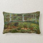 Monet Giverney Japanese Bridge Impressionist Pillow
