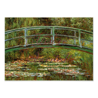 Monet Giverny Bridge Art Painting Card