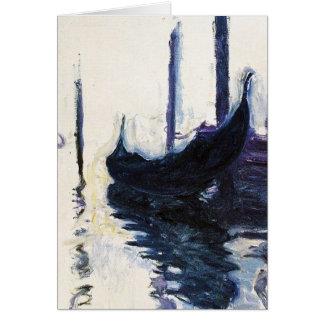 Monet Gondola In Venice Card