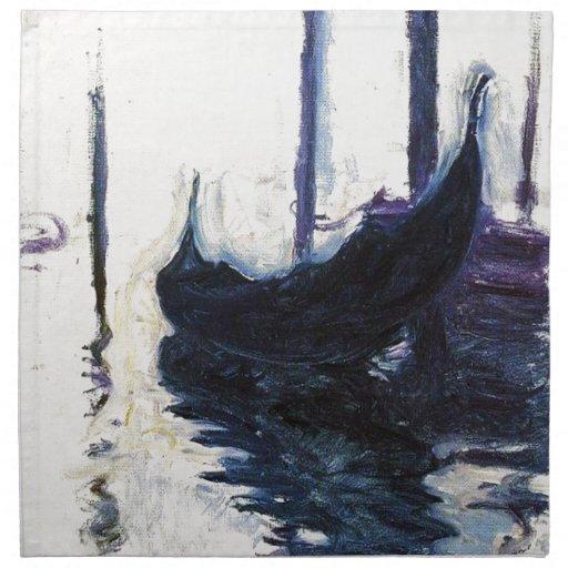 Monet Gondola In Venice Cloth Napkins