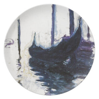 Monet Gondola In Venice Party Plate