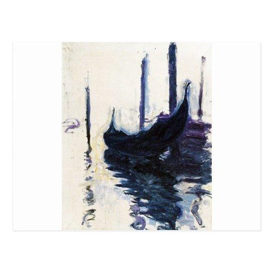 Monet Gondola In Venice Postcard