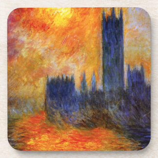 Monet House of Parliament and Sunset Coasters