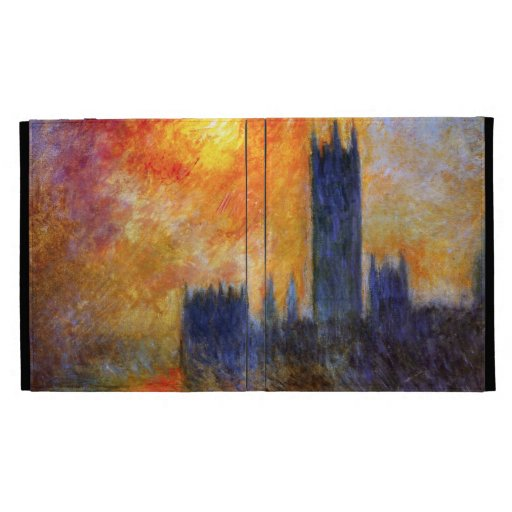 Monet House of Parliament and Sunset iPad 3 Case iPad Cases